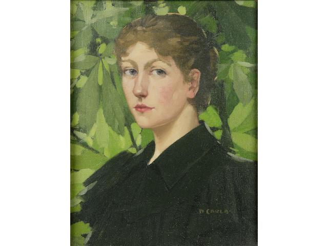 David Gauld RSA (1865-1936) 'The gardener's daughter'