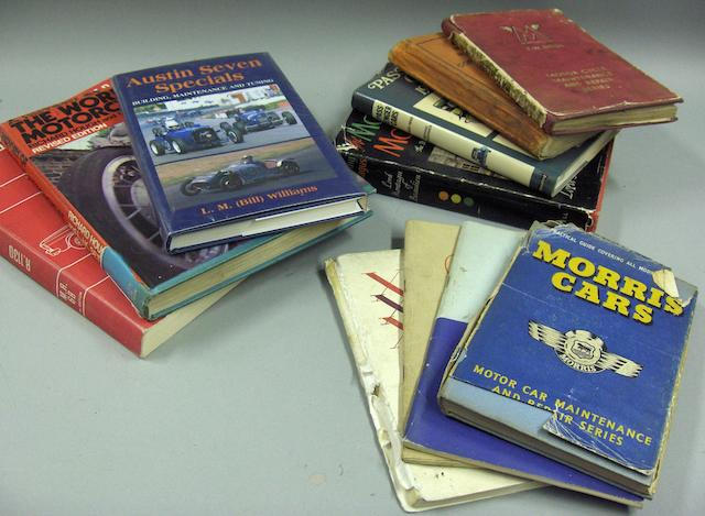 A quantity of motoring books,