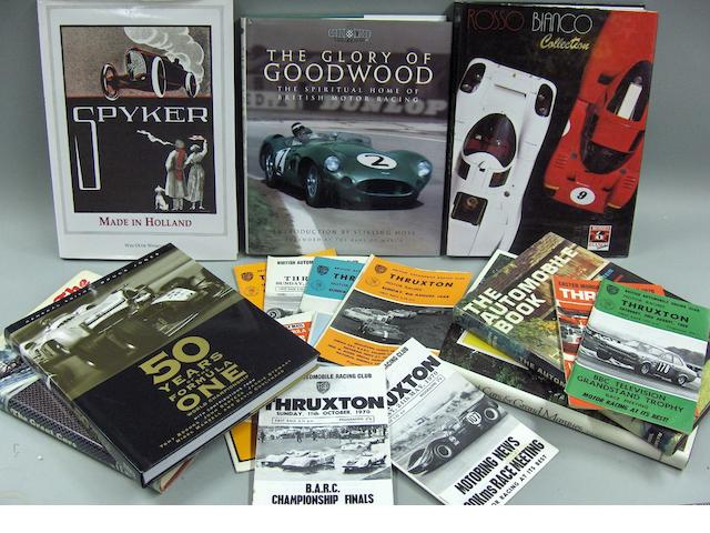 A good lot of motoring literature,