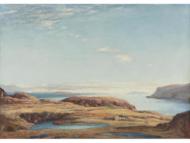 Sir DY Cameron RA RSA RWS RSW RE (1865-1945) 'Firth of Lorne, November' (Sound of Kerrera)