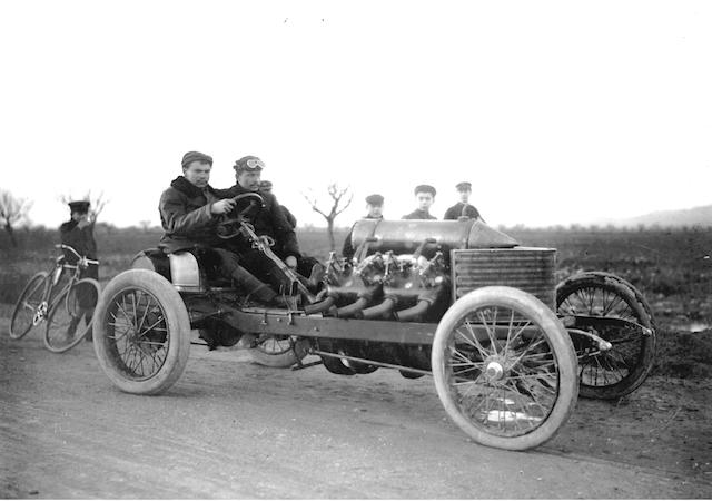 The World Land Speed Record Breaking,1905 200-hp Darracq Sprint Two-Seater