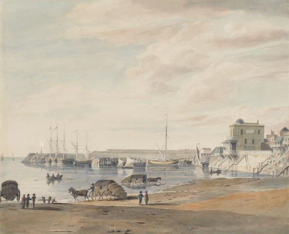 George Sidney Shepherd (British 1784-1862) Margate, Kent from the Bating Place, showing Garner's Cir