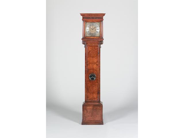 A good early 18th century walnut longcase clock Windmills, London