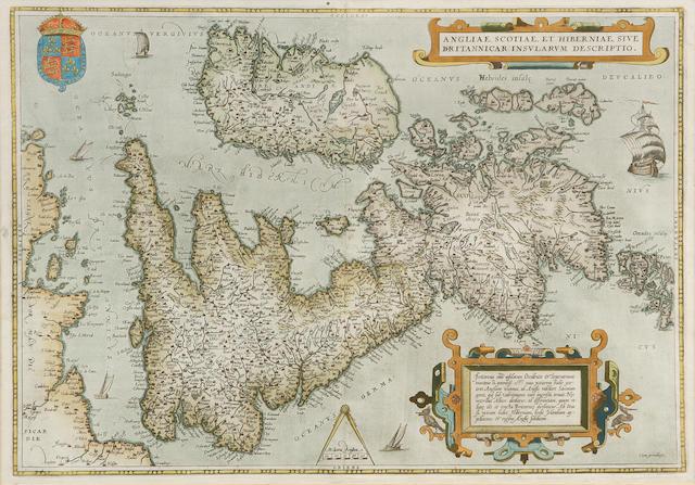 BRITISH ISLES ORTELIUS (ABRAHAM) Angliæ, Scotiæ, et Hiberniæ, sive Britannicar: insularum descriptio