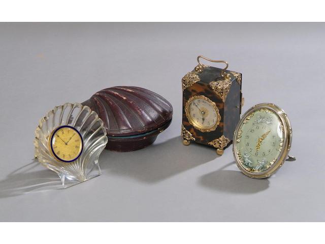 An Edwardian silver oval timepiece
