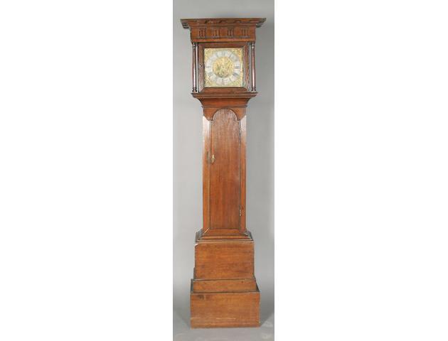 A composite 18th century oak longcase clock