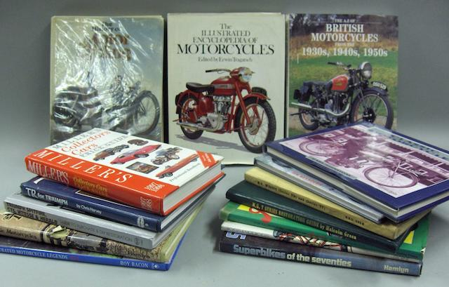 A quantity of motoring and motorcycle books,
