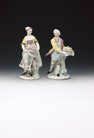 Two Bow figures of cooks circa 1755