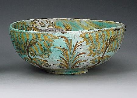 A massive Spanish (Talavera) maiolica bowl circa 1700