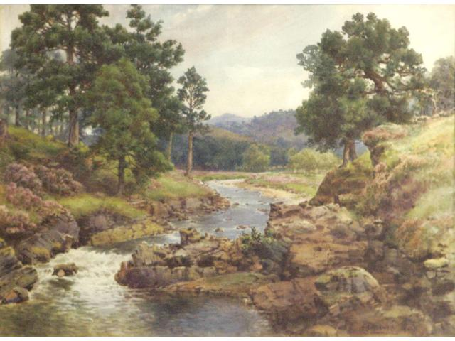 Benjamin John Ottewell HRI OWS (1847-1937) Deeside landscape, together with another similar (2)