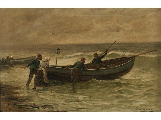 "Tom Seymour ""The Fisherman's Helpmate"", together another, ""Launching the Salmon Boat"", a pair,"