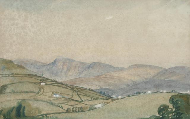 "James Dickson Innes (1887-1914) ""Welsh Mountains"","