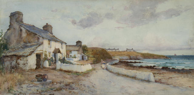 James Hughes Clayton (exh. 1891-1929) Fisherman's Cottage, probably Cemaes Bay, Anglesey,