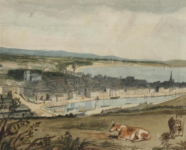 British School circa 1860 A Prospect of Douglas Bay, Isle of Man,