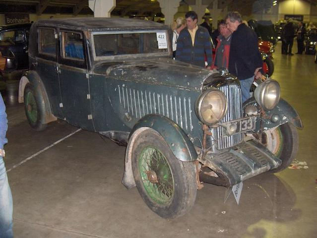 1932 Lagonda 2-Litre Continental Saloon  Chassis no. OH10107 Engine no. OHL 1179
