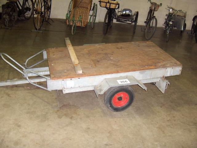 A Two Wheel Motorcycle Transporter Trailer