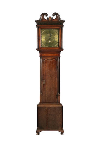 A converted late George III oak-cased long-case clock by Jeremiah Standring of Bolton, (fl. c. 1790-1800)