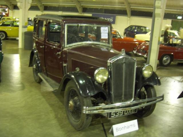 1932 Wolseley Hornet Saloon  Chassis no. 88960 Engine no. 8166A