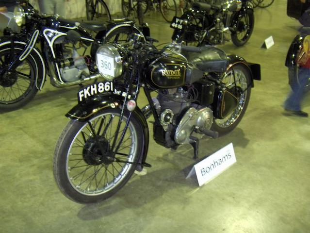 1939 Rudge 250 Sports  Frame no. 65275 Engine no. 1941 S2-639-1