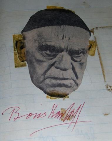 Boris Karloff's autograph,