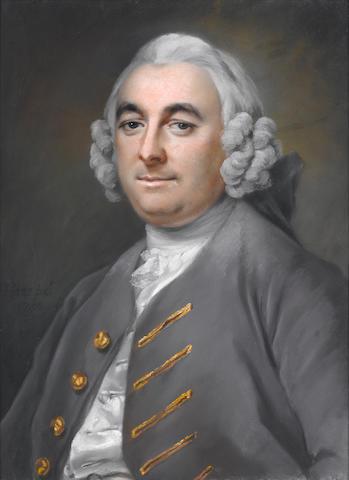 Francis Cotes (British, 1726-1770) Portrait of a gentleman, 1750 59.5 x 44 cm. (23 1/2 x 17 1/4 in.)