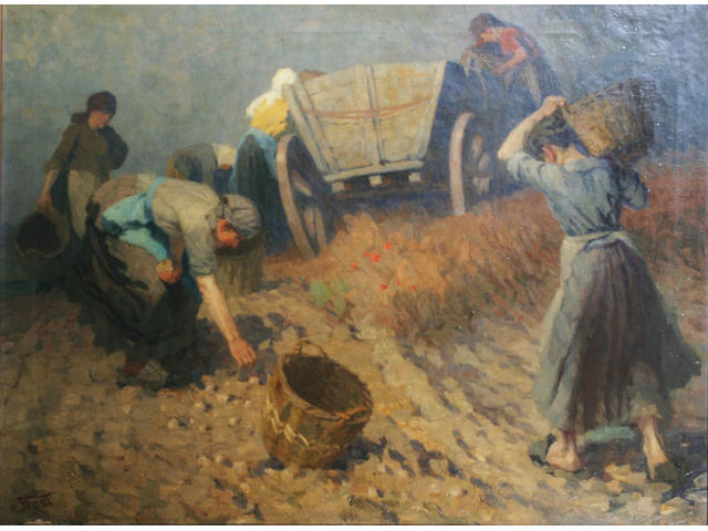 Martin Frost (1875-1928) German The potato harvest,
