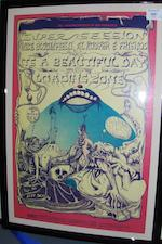 A collection of US concert posters, various dates,