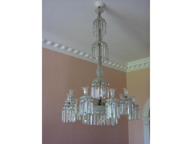 A 19th century cut glass chandelier