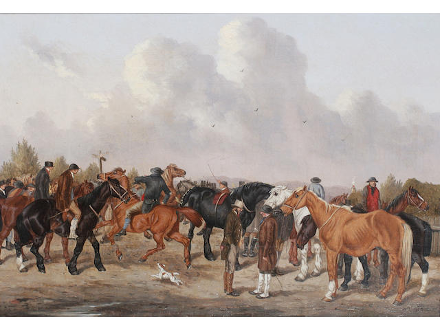 William Henry M* Turner (fl. 1850-1887) British At the horse fair, a pair,