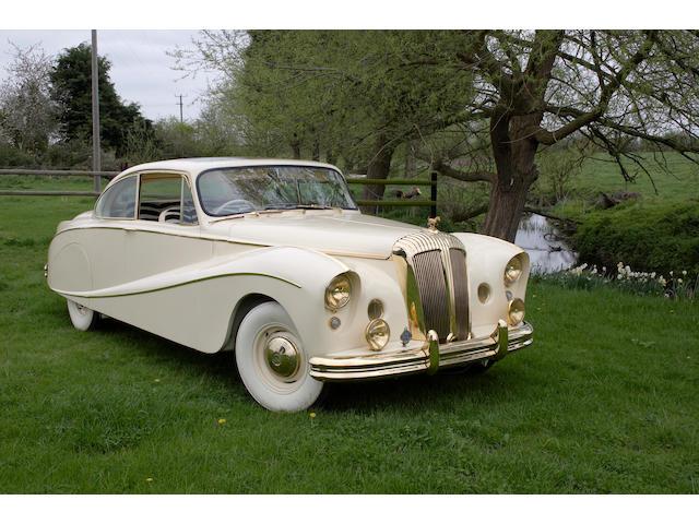The ex-London Motor Show,1955 Daimler DK400 'Golden Zebra' Coupé  Chassis no. 92705 Engine no. 48771