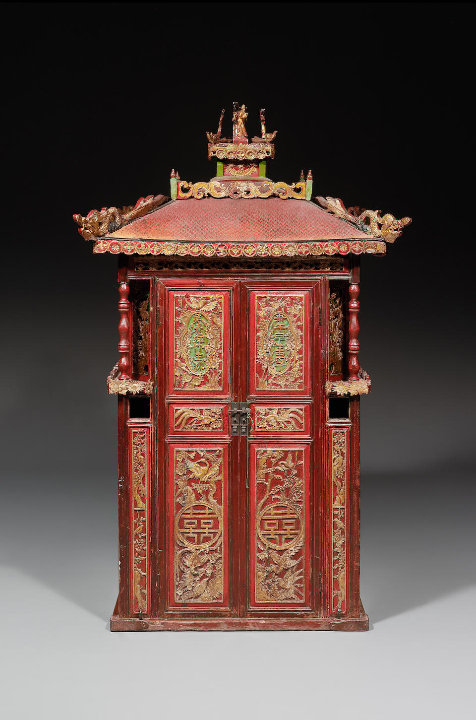 A rare and large Chinese bridal sedan chair 19th century