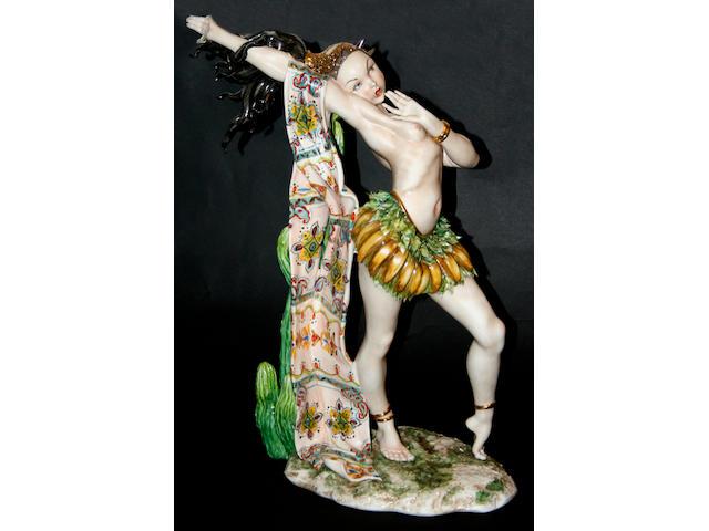 A large Capodimonte nude study by Tiziano Galli