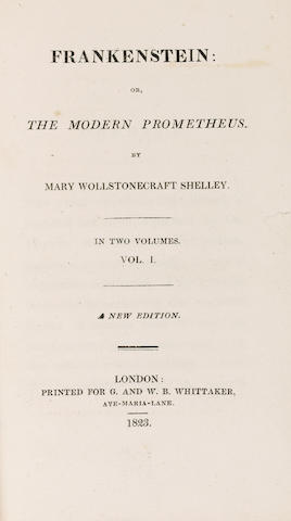 SHELLEY (MARY WOLLSTONECRAFT) Frankenstein: or the Modern Prometheus, 2 vol.