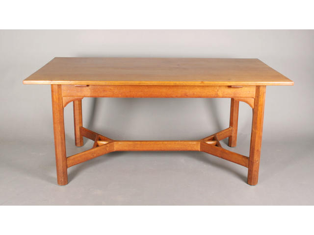 A rare and early Gordon Russell oak refectory table, designed by Gordon Russell, No. 4, circa 1923