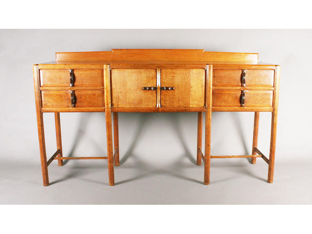 A scarce Gordon Russell oak sideboard, designed by Gordon Russell, No. 470, circa 1926