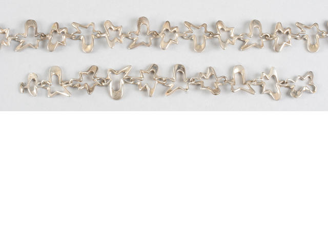 A Georg Jensen bracelet designed by Henning Koppel Stamped marks and numbered 88B,