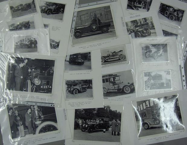 A quantity of photographs of pre war Rolls-Royce cars,