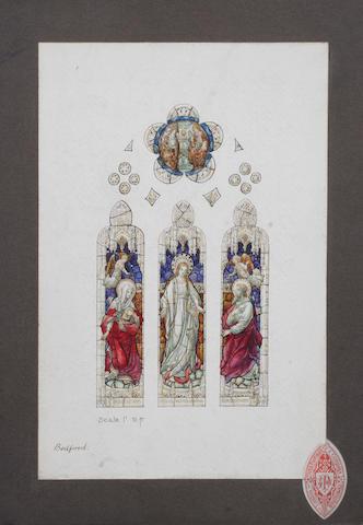 'Bedford', a three panel Gothic design window
