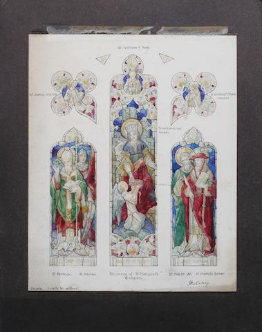 'Stirling', a three panel Gothic design window