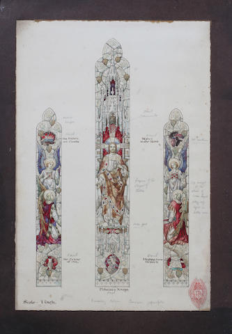 A three panel Gothic design window
