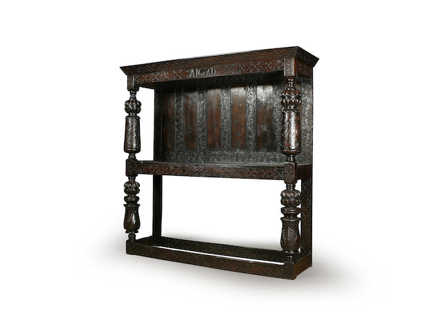An impressive and rare early 17th Century oak buffet, of large proportions
