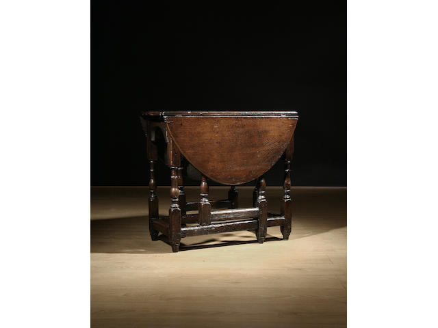 A late 17th Century oak gateleg table