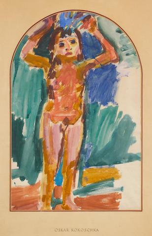 Oskar Kokoschka (Austrian, 1886-1980) 61 x 40 cm (24 x 15 3/4 in)