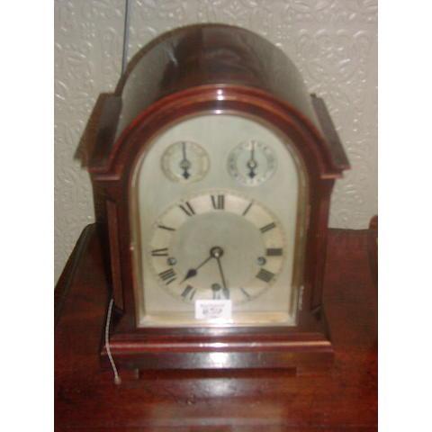A Victorian mahogany bracket clock
