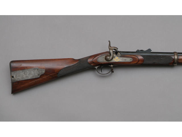 A Percussion Prize Rifle.