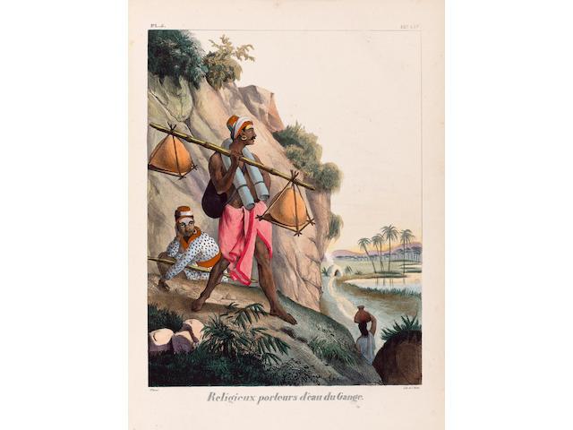 BURNOUF (EUGENE) and EUGENE JACQUET L'Inde francaise ou collection de dessins représentant les divinités, temples, meubles, ornaments... et scénes de la vie privée
