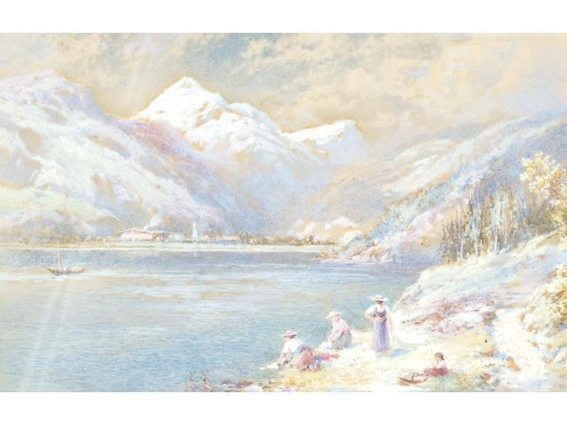 Charles Rowbotham (1856-1921), On the Grimsel Pass, Head of Rhone Valley, Switzerland, 13 x 19cm.
