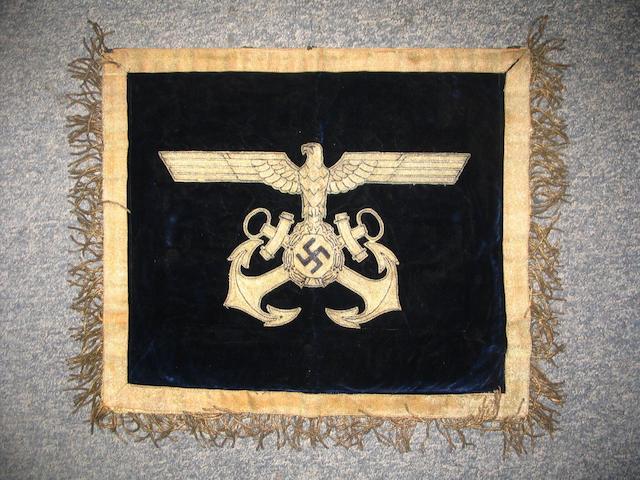 A Third Reich Banner To The Flensburg-Murwik Naval Academy.