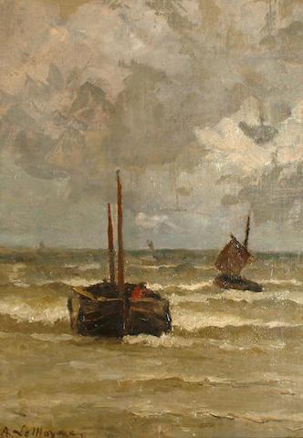 Adrien Jean Le Mayeur de Merprés (Belgian, 1844-1923) Storm passing.