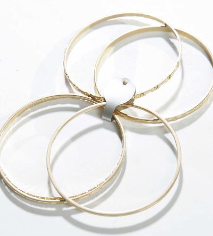 Five gold bangles
